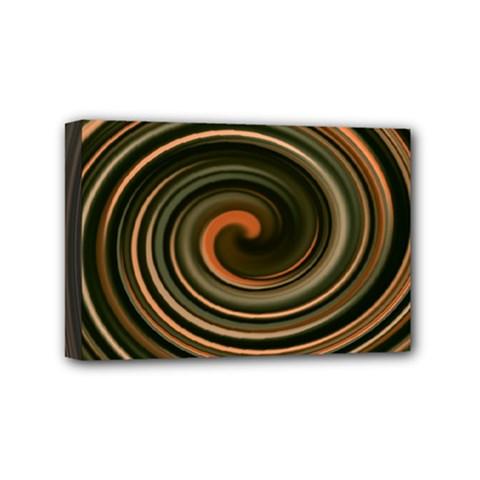 Strudel Spiral Eddy Background Mini Canvas 6  X 4