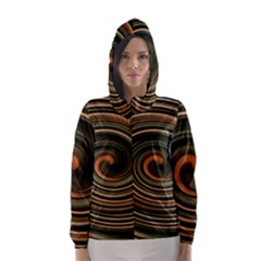 Strudel Spiral Eddy Background Hooded Wind Breaker (women)