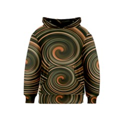Strudel Spiral Eddy Background Kids  Pullover Hoodie