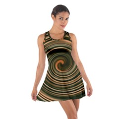 Strudel Spiral Eddy Background Cotton Racerback Dress