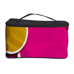 Paint Circle Red Pink Yellow Blue Green Polka Cosmetic Storage Case by Mariart
