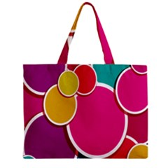 Paint Circle Red Pink Yellow Blue Green Polka Zipper Mini Tote Bag by Mariart