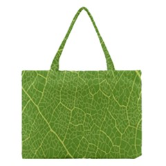 Green Leaf Line Medium Tote Bag by Mariart
