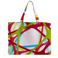 Nets Network Green Red Blue Line Zipper Mini Tote Bag by Mariart