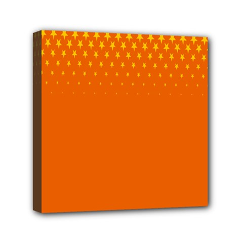 Orange Star Space Mini Canvas 6  X 6  by Mariart