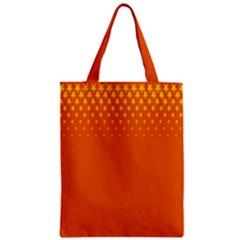 Orange Star Space Zipper Classic Tote Bag by Mariart
