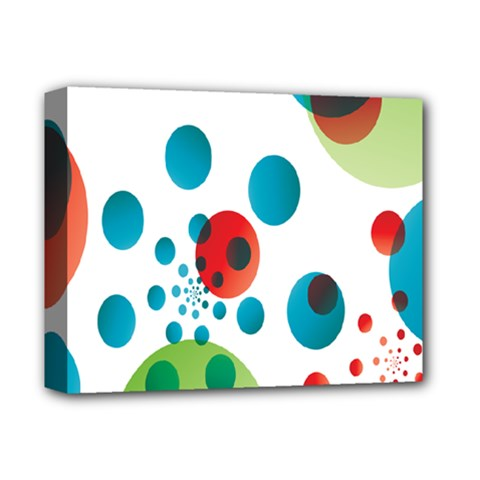 Polka Dot Circle Red Blue Green Deluxe Canvas 14  X 11  by Mariart