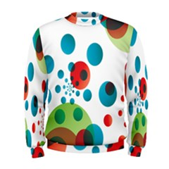 Polka Dot Circle Red Blue Green Men s Sweatshirt