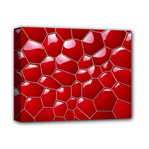 Plaid Iron Red Line Light Deluxe Canvas 14  X 11  by Mariart