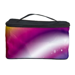 Rainbow Space Red Pink Purple Blue Yellow White Star Cosmetic Storage Case by Mariart