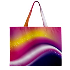 Rainbow Space Red Pink Purple Blue Yellow White Star Zipper Mini Tote Bag by Mariart