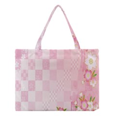Sakura Flower Floral Pink Star Plaid Wave Chevron Medium Tote Bag by Mariart