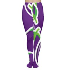 Vegetable Eggplant Purple Green Women s Tights by Mariart