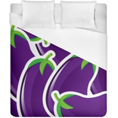 Vegetable Eggplant Purple Green Duvet Cover (california King Size) by Mariart