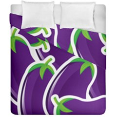 Vegetable Eggplant Purple Green Duvet Cover Double Side (california King Size) by Mariart