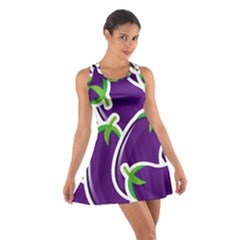 Vegetable Eggplant Purple Green Cotton Racerback Dress by Mariart