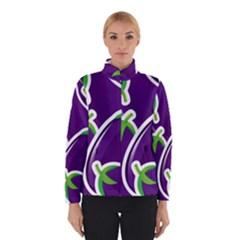 Vegetable Eggplant Purple Green Winterwear by Mariart
