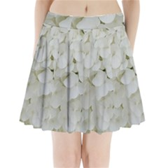 Hydrangea Flowers Blossom White Floral Photography Elegant Bridal Chic  Pleated Mini Skirt by yoursparklingshop