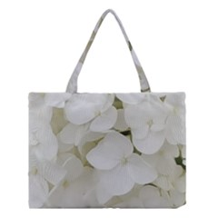 Hydrangea Flowers Blossom White Floral Photography Elegant Bridal Chic  Medium Tote Bag by yoursparklingshop