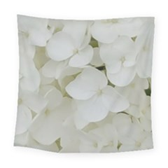 Hydrangea Flowers Blossom White Floral Photography Elegant Bridal Chic  Square Tapestry (large) by yoursparklingshop