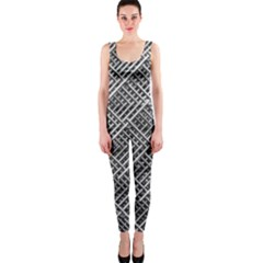 Pattern Metal Pipes Grid Onepiece Catsuit by Nexatart