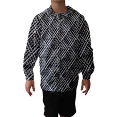 Pattern Metal Pipes Grid Hooded Wind Breaker (Kids) by Nexatart