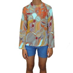Liquid Bubbles Kids  Long Sleeve Swimwear by digitaldivadesigns