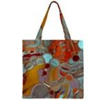 Liquid Bubbles Zipper Grocery Tote Bag