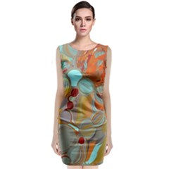 Liquid Bubbles Classic Sleeveless Midi Dress