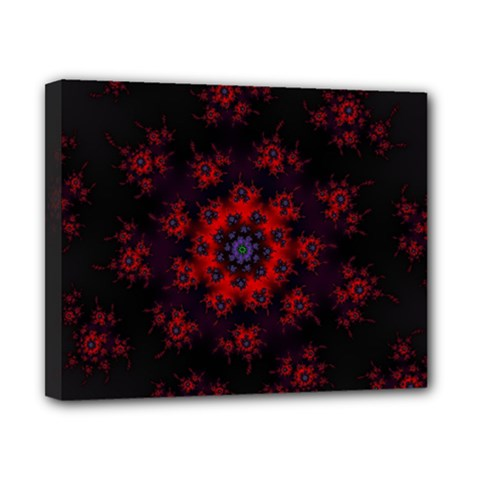 Fractal Abstract Blossom Bloom Red Canvas 10  X 8  by Nexatart