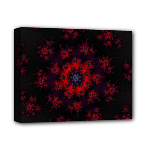 Fractal Abstract Blossom Bloom Red Deluxe Canvas 14  X 11  by Nexatart