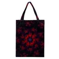 Fractal Abstract Blossom Bloom Red Classic Tote Bag
