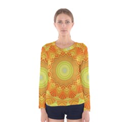Sunshine Sunny Sun Abstract Yellow Women s Long Sleeve Tee