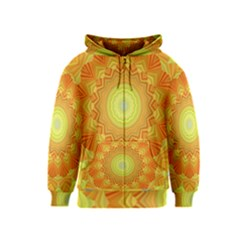 Sunshine Sunny Sun Abstract Yellow Kids  Zipper Hoodie