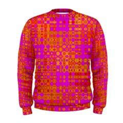 Pink Orange Bright Abstract Men s Sweatshirt