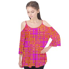 Pink Orange Bright Abstract Flutter Tees
