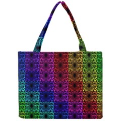 Rainbow Grid Form Abstract Mini Tote Bag