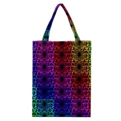 Rainbow Grid Form Abstract Classic Tote Bag