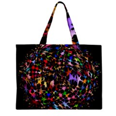 Network Integration Intertwined Zipper Mini Tote Bag