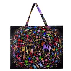 Network Integration Intertwined Zipper Large Tote Bag by Nexatart