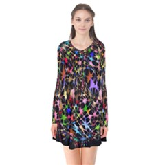 Network Integration Intertwined Flare Dress