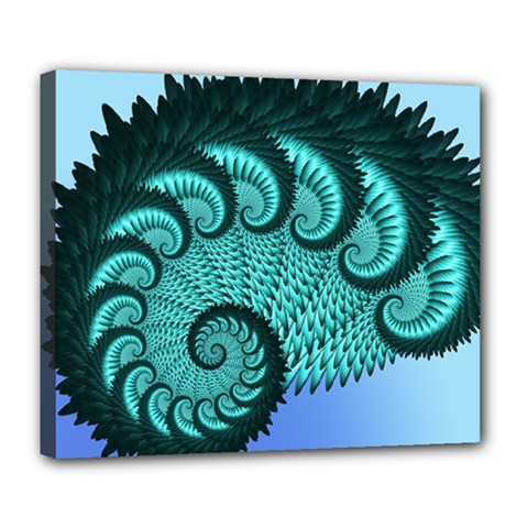 Fractals Texture Abstract Deluxe Canvas 24  X 20   by Nexatart