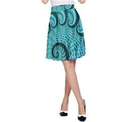 Fractals Texture Abstract A Line Skirt by Nexatart