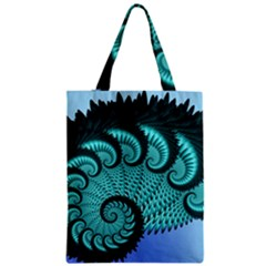 Fractals Texture Abstract Zipper Classic Tote Bag by Nexatart