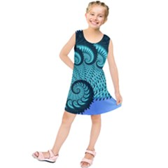 Fractals Texture Abstract Kids  Tunic Dress