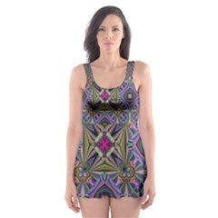 Vintage Abstract Unique Original Skater Dress Swimsuit
