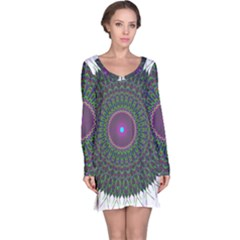 Pattern District Background Long Sleeve Nightdress