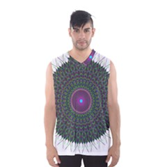 Pattern District Background Men s Basketball Tank Top