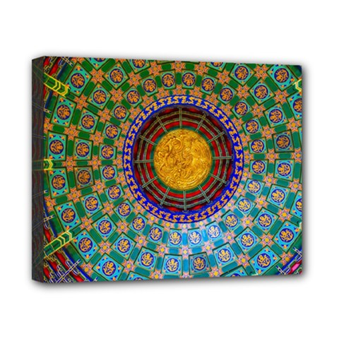 Temple Abstract Ceiling Chinese Canvas 10  X 8