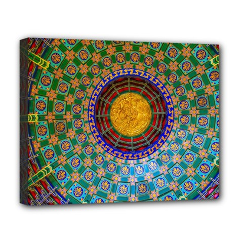 Temple Abstract Ceiling Chinese Deluxe Canvas 20  X 16